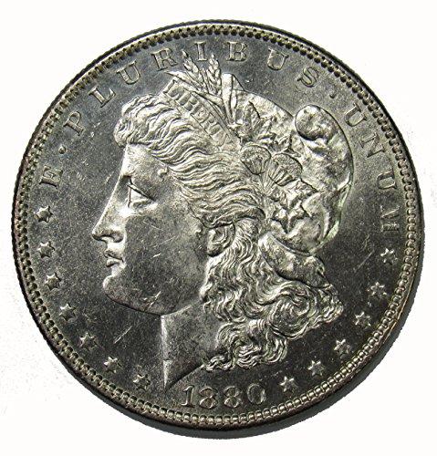 1880 O Morgan Silver Dollar PL Fields $1 AU (1880 O Morgan Silver Dollar Coins)