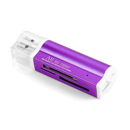 Amazon.com: Zouvo - Lector de tarjetas USB con 4 ranuras ...