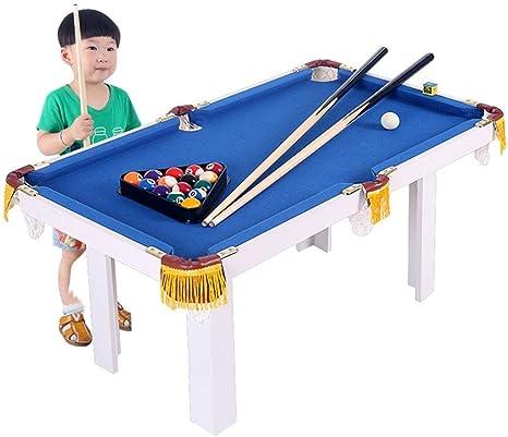 YUHT Portátil Mesa de Billar Billar por Juvenil Familia Deporte Tabla Juego for niños niñas de fútbol Juego de Mesa Divertido Juego (Color : Azul, tamaño : 91x43x54cm): Amazon.es: Deportes y aire