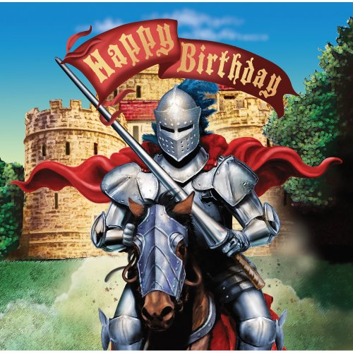 Creative Converting Valiant Knight Happy Birthday 16 Count 3-Ply Paper Lunch Napkins