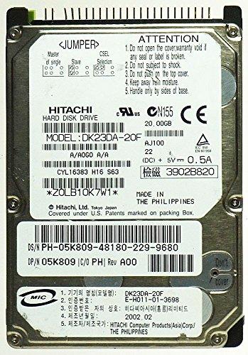 Hitachi Dell 20Gb IDE 4200rpm 2.5in Laptop Hard Disk Drive