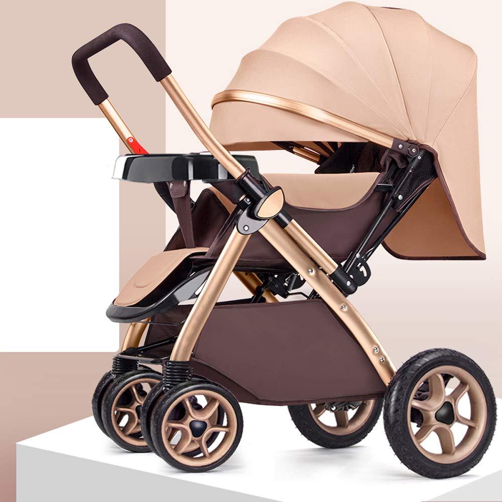 MC-BLL-Baby stroller Poussette bébé Peut s'asseoir inclinable lumière Pliant Haute Paysage Voiture bébé Voiture Quatre Roues Poussette bébé Poussette