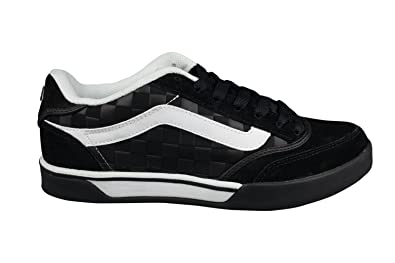 dd01a5ce77 Vans Mens Leather Black Black White Whip-2 Ryan Guettler Skate Shoes  Trainers