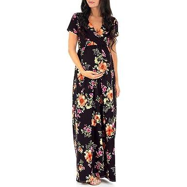 Elegante Vestido de Maternidad para Mujer, Falda de Embarazo ...