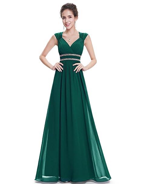 9ff5a1bf5 Ever-Pretty Vestido de Noche Elegante con Cuello en V para Mujer 08697