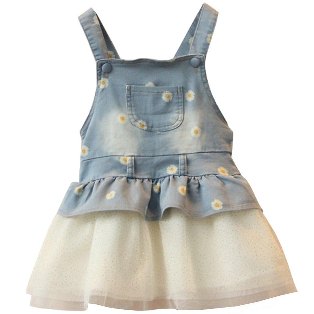 Vestito Salopette di Jeans Bambino Gonna Tutu Denim Vestito Principessa Gonna di Jeans Tutina Vestiti del denim 6-9 Mesi Ltd