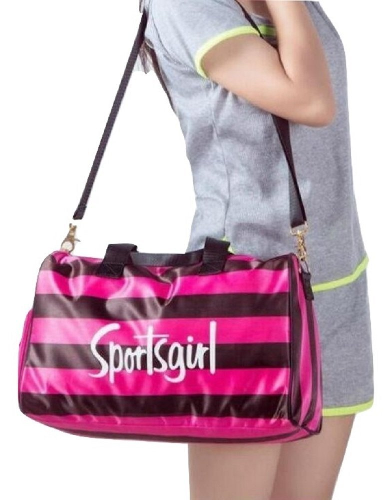 Fitness sports store Ladies Small pink gym locker holdall duffel bag shoe compartment