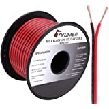 TYUMEN 100FT 18 Gauge 2pin 2 Color Red Black Cable Hookup Electrical Wire LED Strips Extension Wire 12V/24V DC Cable…