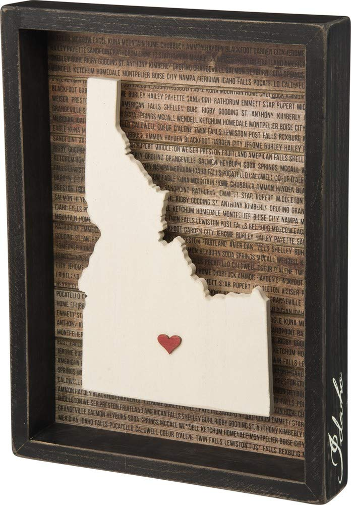 Primitives by Kathy State Pride Box Sign, Idaho