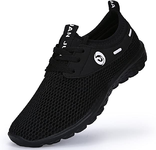 Juiertjko Mens Lace-Up Mesh Cool Basketball Player Foam Camping Track Running Shoes Sneakers