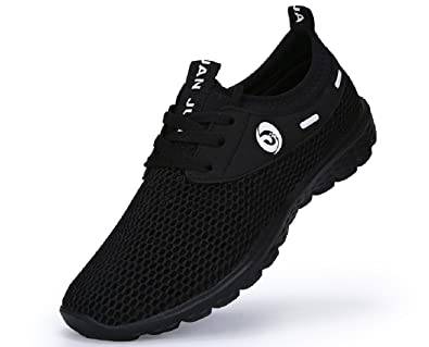 Juan Mens Lightweight Slip On Fashion Mesh Sneakers Breathable Running Shoes Athletic Outdoor Casual Sport Shoes