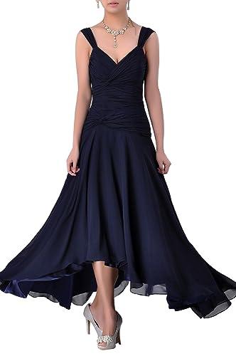 Adorona Women's Chiffon Tea Length a Line Dresses