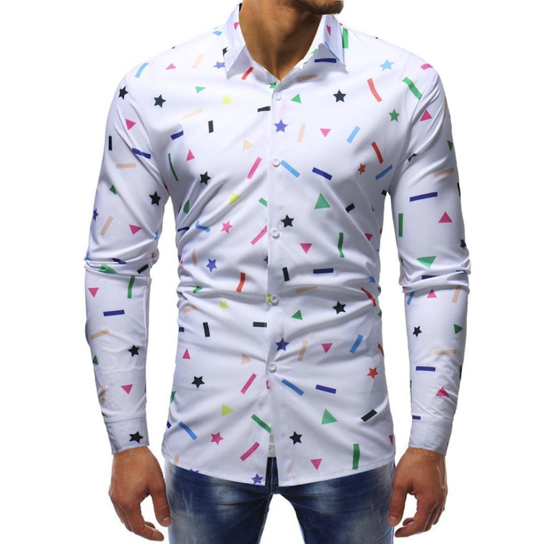 Resplend Blusa Impresa para Hombre de la Moda Camisas Ocasionales de Manga Larga Slim Tops: Amazon.es: Ropa y accesorios