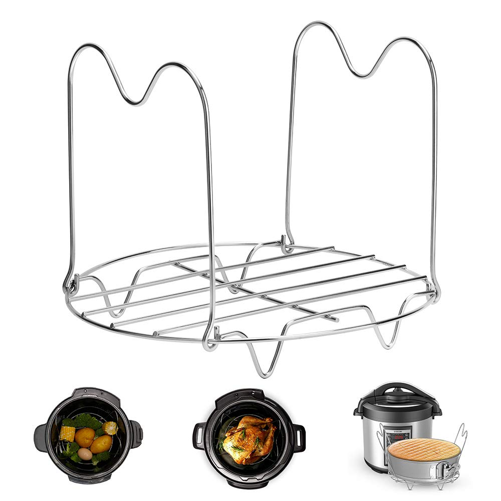 Instant Pot Trivet with Handles for 6 or 8 Quart Instant Pot Accessories, Stainless Steel Pressure Cooker Trivet Instant Pot Rack, Great for Lifting out Whatever Delicious Meats & Veggies You Cook