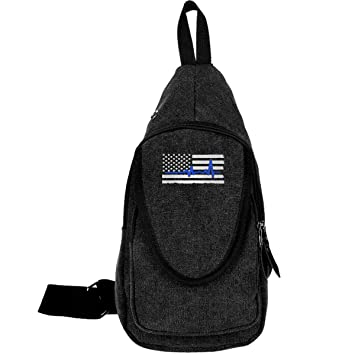 Amazon com | Police HeartBeat Thin Blue Line Canvas Sling