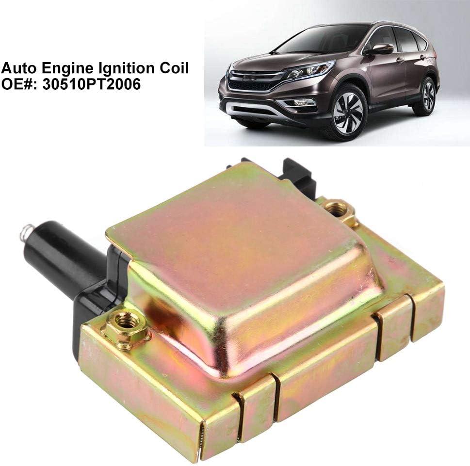 Keenso Bobina de encendido autom/ático Conjunto de bobina de encendido del motor negro para CR-V 30510PT2006