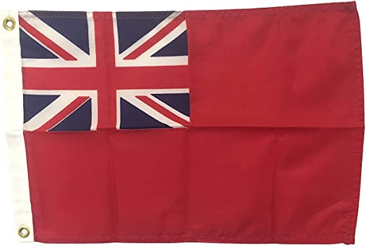 Amazon Com 12x18 British Red Ensign Boat Flag Durable All Weather Nylon With Grommets For Outdoors Made In Usa Garden Outdoor
