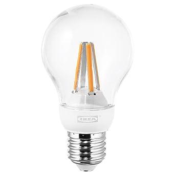 IKEA LEDARE E27 - Bombilla de globo LED de 600 lúmenes, intensidad regulable: Amazon.es: Iluminación