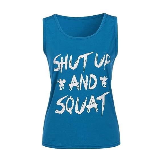 HARRYSTORE Sport Tank Tops Mujer Camisetas Deportivas Sueltos y Elásticos Mujer Camisetas Sin Mangas Deportivos Mujer