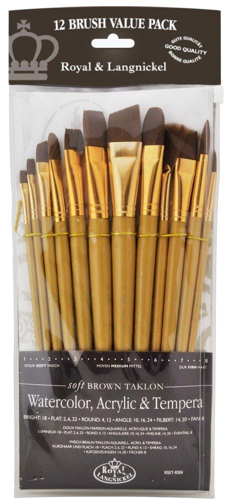 Royal Brush Manufacturing Royal and Langnickel Zip N' Close 12-Piece Brush Set