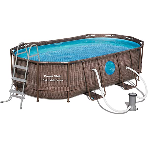 24ft Bestway Frame Above Ground Swimming Pool 7 3m With Sand Filter Amazon Com Au Lawn Garden