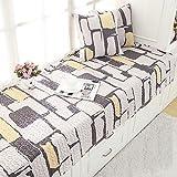 SQINAA Erker anti-rutsch-matte,Baumwolle fenster kissen balkon sitzmatte schwebende fenster decke matte sofa slipcovers -F 70x150cm(28x59inch)