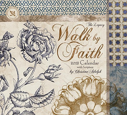 Legacy Publishing Group 2018 12-Month Wall Calendar with Scripture, Walk By Faith