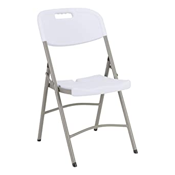 Heavy Duty Indoor/Outdoor Blow Molded Folding Chair, White (Pack Of 4):  Amazon.com: Industrial U0026 Scientific