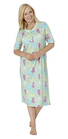 4b0777af13 Normann Damen Nachthemd in Übergrössen (Grosse Grössen) erhältlich - 52789,  Farbe:grün
