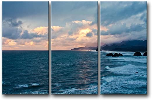 Beautiful Seaside Fine Day Hand Painted Design Needlepoint Canvas 080