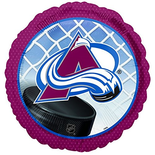 Anagram International Colorado Avalanche Foil Flat Party Balloons, 18