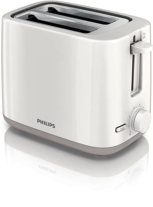 Philips HD2595/00 - Tostadora Daily Collection, 2 ranuras, 4 funciones en 1