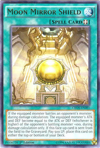 Yu-Gi-Oh! - Moon Mirror Shield (CROS-EN081) - Crossed Souls - 1st Edition - ()