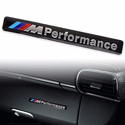 JD PARTS LLC M Performance Car Logo Hood Decal Sticker Emblem for All BMW (Black): Automotive