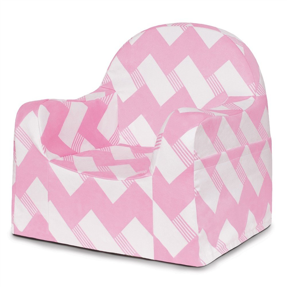 P'kolino PKFFLRPZ Little Reader Chair - Pink/White P'kolino