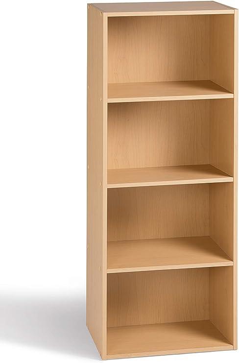 acheter maintenant mode la plus désirable styles de mode Alsapan Cube Meuble de Rangement Colonne 4 Casiers Bibliothèque Etagères  Erable 40 x 29 x 106 cm