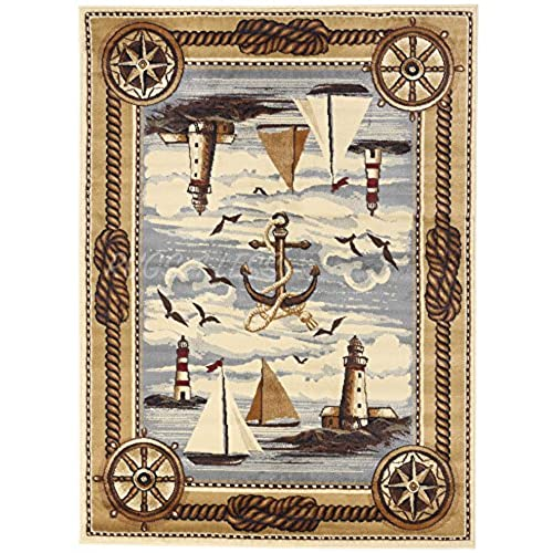 Nautical And Coastal Rugs: Amazon.com