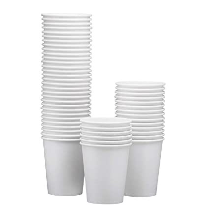 d70ae22d4ea NYHI Disposable & Reusable Paper Espresso Cups – White - For Hot/Cold  Coffee, Tea & Chocolate, Water, Beverages – Pack Of 50 - Extra Thick And ...
