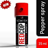 Newish NW-5070-P Metal Powerful Pepper Spray Self Defence for Women Shots 50 (35 ml / 55 gm) (Red)