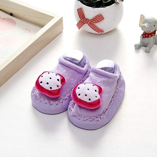 GUHUA Calcetines para Niños Y Niñas De 0-3-6-12 Meses, Zapatos ...