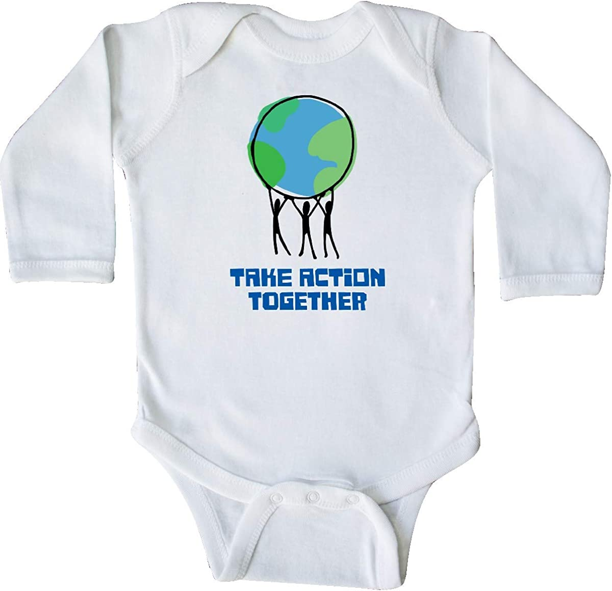inktastic Take Action Together Save The Planet Long Sleeve Creeper