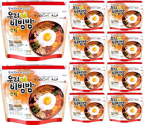 Amazon Com Mre Meals Woori S Ready To Eat Bibimbap Korean Mixed Rice Bowl 100g 3 53oz 335 Kcal Instant Rice Emergency Rice Food Kimchi 10 Pack Grocery Gourmet Food