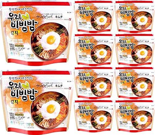 Amazon Com Mre Meals Woori S Ready To Eat Bibimbap Korean Mixed Rice Bowl 100g 3 53oz 335 Kcal Instant Rice Emergency Rice Food Kimchi 10 Pack Grocery Gourmet Food