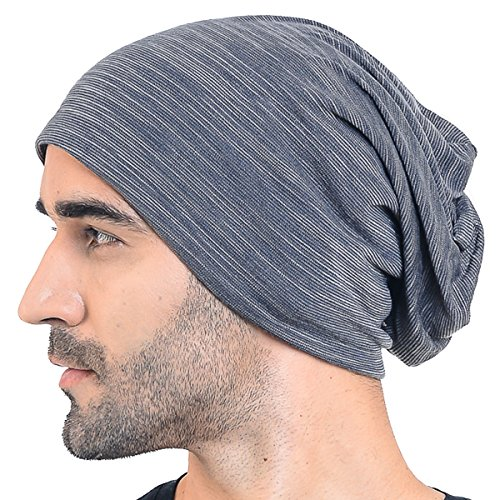 69d87deabb1 Men Slouch Hollow Beanie Thin Summer Cap Skullcap B018h (011h-Grey) - Buy  Online in Oman.