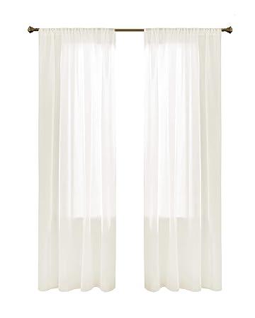 Gardinen Schals In Leinen Optik Leinenstruktur Vorhänge Schlafzimmer  Transparent Vorhang Für Große Fenster Doris Off