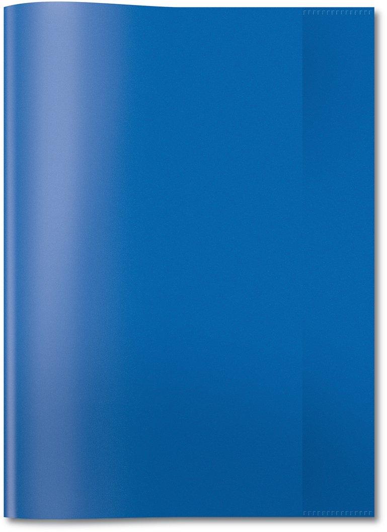 Herma 7493 Heftumschlag DIN A4, Kunststoff, transparent blau, 1 Heftschoner für Schulhefte 183361