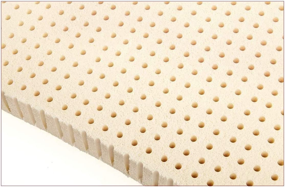Standard King – 2 Inch Natural Latex Foam Mattress Pad Topper – Medium Firm
