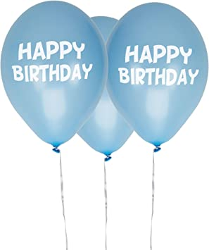 Neviti Little Star Blue-Happy Birthday Balloons-8 Pack Globos ...