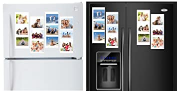 Amazoncom White Magnetic Picture Frames Collage For Refrigerator