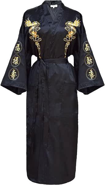 kimono japonés para mujer, bata elegante estilo chino